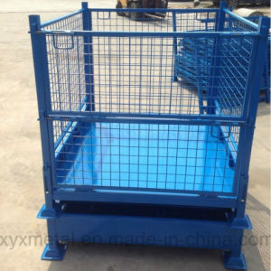 Folding Heavy Duty Stacked Storage Mesh Stillage Cage Wire Container pictures & photos