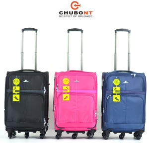Chubont Five Wheels Double Zipper Tsa Lock 4PCS Luggage Set pictures & photos