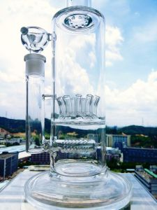 Hb King 16.4inch Straight Tube Female Joint Glass Bowl Ice Catcher Big Borosilicate Glass Water Pipe Smoking Water Pipe pictures & photos