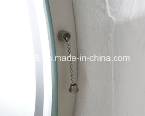 Classic Stainless Steel Furniture Bathroom Roundness Illuminated Mirror (7082) pictures & photos