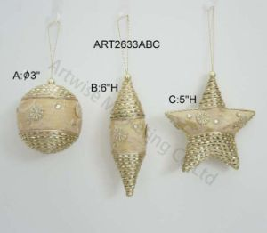 Christmas Tree Decoration Fabric + Chrochet and Bead Balls-3asst pictures & photos