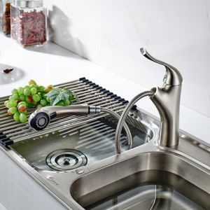 Flg Brass Brushed Nickle/Chrome Pull out Kitchen Sink Faucet Taps pictures & photos