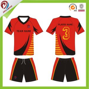 Best Quality Cheap Adult Soccer Uniform Kit Set with Custom Sublimation pictures & photos