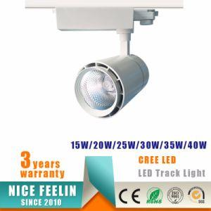 White/Black Aluminum Housing 35W CREE COB LED Track Spotlight pictures & photos
