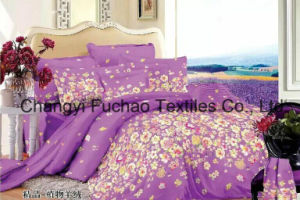 Printed Quilted Pigment Printing Microfiber Quilt /Bedding Set pictures & photos