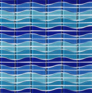 Blue Color Swimming Pool Glass Mosaic Building Material pictures & photos