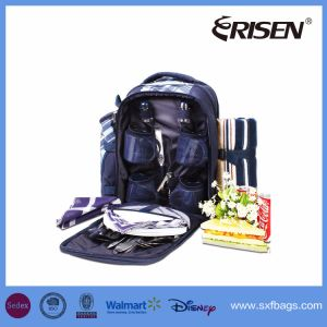 Wholesale Fashion 4 Person Picnic Backpack with Cooler Compartment pictures & photos