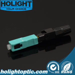 FTTH Sc/Upc Om3 Fiber Optic Quick Assembly Connector pictures & photos