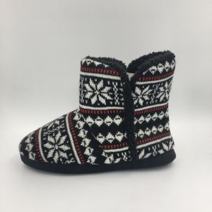Lds Black MID-Calf Indoor Fashion Boots