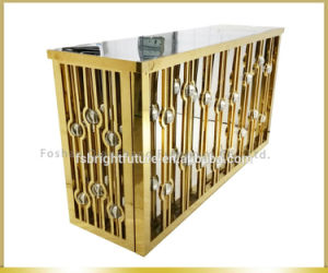 Golden Stainless Steel Wedding Bar Table for Banquet pictures & photos