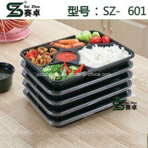 6 Compartment Disposable Plastic Takeaway Food Container (SZ-A601) pictures & photos