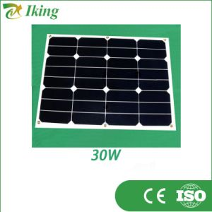30W 18V Customized Size Flexible Sunpower Solar Panel