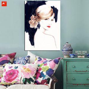 Watercolor Woman Portrait Canvas Art Print pictures & photos