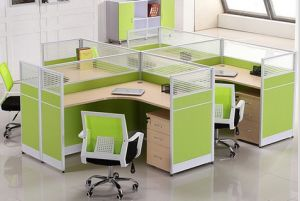Certificate Office Furniture 4 Person Straight Workstation (HX-NCD311) pictures & photos