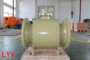 API Pieces Ss CS Flanged Large Size Flanged Trunnion Ball Valve