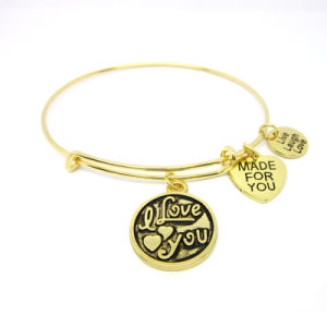 China Wholesale Metal Alloy Charms Bangle Bracelet Expandable pictures & photos