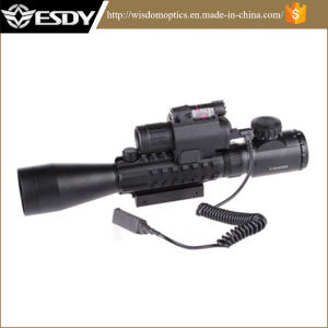 3-9X40e Red&Green Airsoft Riflescope with M6 Laser LED Flashlight pictures & photos