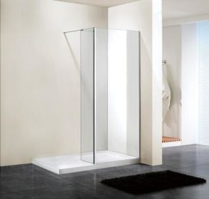 Bathroom 6mm Glass Wetroom Shower Wall with Return Panel (BN-WR90) pictures & photos