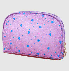 China Supplier Travel Pouch Bag Makeup Bag Heart Printed PVC Cosmetic Bag pictures & photos
