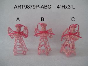 Christmas Decoration White Crochet Angel -3asst. pictures & photos