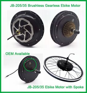 Jb-205-35 Factory Supply 48V 1000W Rear Hub Motor pictures & photos