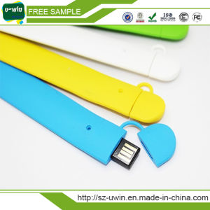 Hot USB Pendrive Silicone Wrist USB Flash Memory with Customized Logo and Factory Price pictures & photos