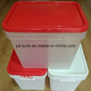 2016 New Type PP Food Grade Rectangular Plastic Pail 25L for Food Packaging pictures & photos