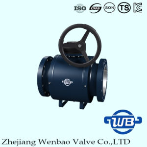 Flange Trunnion Mounted Fully Welded Ball Valve for Industry 300lb pictures & photos