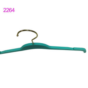 Notched Plastic High-Class Rubber Coating Shirt Hangers Custom pictures & photos