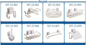 Stainless Steel Suction Cup Bathroom Corner Shelf pictures & photos