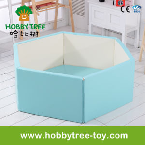 2017 Soft Indoor Baby Playpen with PE Foam Coated by PU (HBS17080A)