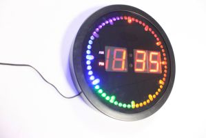 Four Color LED Digital Display Wall Clock pictures & photos