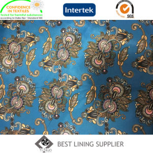 100% Polyester 290t Taffeta Printed Lining Men′s Suit Jacket Lining Fabric pictures & photos