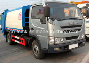China Yuejin 5cbm Compressor Garbage Truck pictures & photos