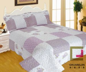 Printed 100%Polyester Ultrasonic Quilt (BEDDING SET) pictures & photos