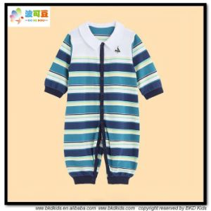 Stripe Printing Baby Clothes Polo Neck Newborn Jumpsuits pictures & photos