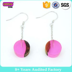 Fancy Round Resin Wooden Earrings pictures & photos