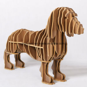 Novelty Assemble Wooden Crafts Hot Dog Side Table pictures & photos