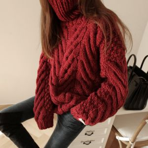 Hand Knit Sweater Cardigan Coat Jacket Apparel Pullover Clothes Knitwear pictures & photos