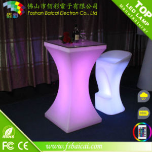 Glowing Chair Bar Stool with High Table
