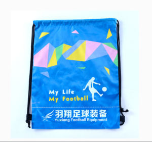 Manufacturer Thin Animal Embroidered Kids Organic Cotton Sublimation Multifunctional Drawstring Bag pictures & photos