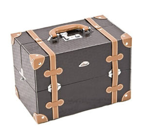 Makeup Case Artist Cosmetic Organizer, 4 Trays, Adjustable Dividers, Locking with Shoulder Strap pictures & photos
