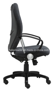 Round Back Computer Manager Chair Fabric Functional Office Chair with Armrest (LDG-838B) pictures & photos