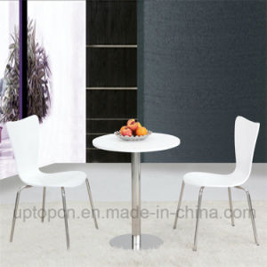 Restaurant Furniture Set with Round Table and PP Chair (SP-CT618) pictures & photos