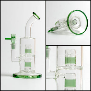 Toro Glass Double Micro Froth Thick Water Fancy Glass Smoking Pipe Glass Bongs in Stock pictures & photos