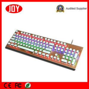 Round Caps Wired USB Gaming Mechanical Keyboard pictures & photos