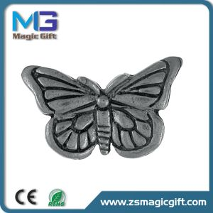 3D Promotional Metal Butterfly Pin with Anitque Silver Finished pictures & photos