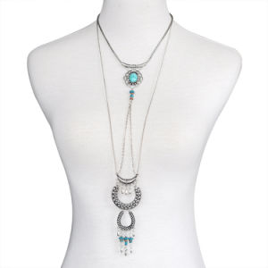Fashion Necklace Jewelry Dream Catcher Turquoise Tassel Alloy Long Pendant Necklace pictures & photos