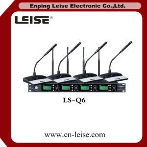 Ls-Q6 Professional 4 Channel Digital Audio UHF Wireless Microphone