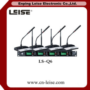 Ls-Q6 Professional 4 Channels Digital Audio UHF Wireless Microphone pictures & photos